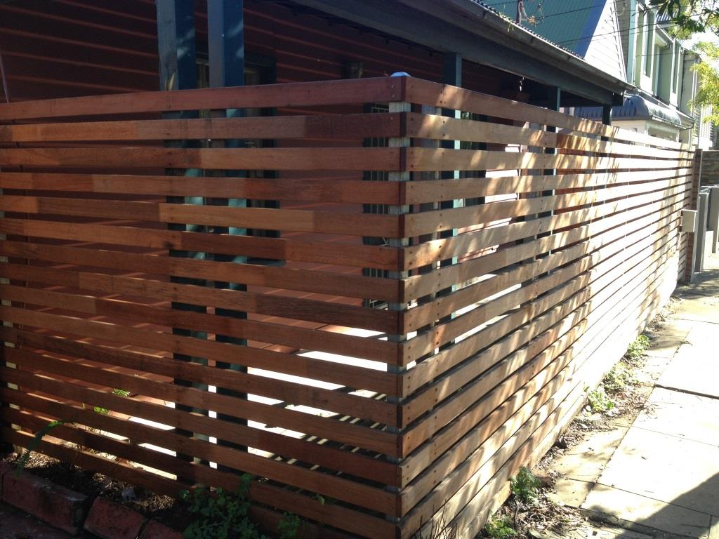 Privacy Screens Horizontal Slats Sydney Fence Builders